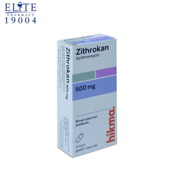 زيثروكان مضاد حيوي 3 كبسولات